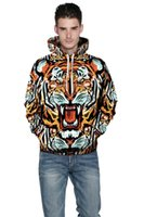 animations tiger print - Popular European and American animation tiger head loosely personalized lovers sweater SJMD07