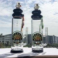 amber barrel - Big Glass Bong Barrel Perc mm Thick Green Amber Oil Rig Headshop Bottle Bongs With mm Female Joint Water Pipes DGC1205