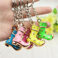activities boot - Creative cute little gift Mongolia boots boots small simulation Mini clown shoes key buckle nursery school activities and gifts
