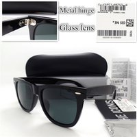 Wholesale AAAA quality Glass lens Metal hinge Brand Designer Fashion Men Women Plank frame Sunglasses UV400 Sport Vintage Sun glasses With box