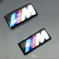 Wholesale Self Adhesive M Sport Car BADGE STICKER EMBLEM For BMW M1 M3 M3 M5 M6 Wheel