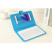 Caja del teléfono celular con el teclado del bluetooth 9 colores sólidos mueven de un tirón la caja de la cubierta del cuero para el iPhone de Apple Samsung HTC Xiaomi Huawei Vivo OPPO