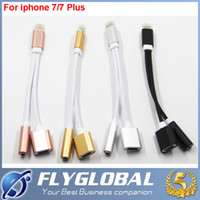 Wholesale 2017 new in lighting earphone adapter for iPhone and iphone plus standard mm jack headphone port and iPhone charger ports