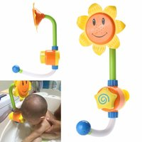Wholesale Kids Children Baby Bath Toy Sunflower Shower Faucet Bath Water Play Learning Toy Gift Retail Package