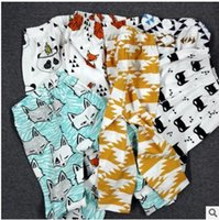Wholesale Mix Designs Kids INS Pants Summer Geometric Animal Print Baby Trousers Pants Brand Kids Baby Clothing Cotton Baby PP Pants Wear v77