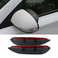 Wholesale Car Styling Carbon rearview mirror rain eyebrow Rainproof Flexible Blade Protector Accessories For Suzuki SX4