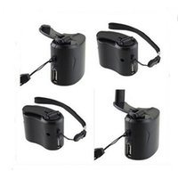 Wholesale New Arrive Dynamo Hand Crank USB Cell Phone Emergency Charger With Light LLFA