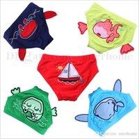 Wholesale Baby Cartoon Swim Trunks Boys Board Shorts Girl Swimming Nappies Swim Diaper Pool Swimsuit Beachwear Swimwear Bathing Suits Underpants B1688