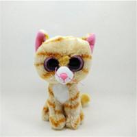 al por mayor animales grandes ojos-Venta al por mayor-TY Beanie Boos juguetes lisos Cute Fox 6 '' 15cm Ty animales de peluche ojos grandes Eyed peluche Juguetes blandos para niños Regalos L15