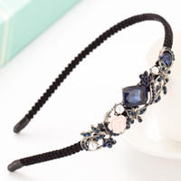 Wholesale Korean fashion hair lady elegant retro diamond hoop hairpin crown Material alloy Retro styleShape butterfly knot