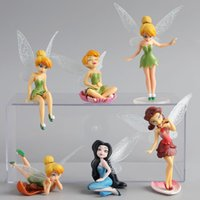 Wholesale 6pcs Set The Flower Angel Cute Anime Minifigure Tinkerbell Fairy PVC Action Figure Toys For Girls Princess Dolls Gift