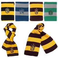 Wholesale MOQ Harry Potter Scarf Scarves Winter warm scarf Ravenclaw Scarf Gryffindor Scarf Magic School Slytherin Knit Scarves Cosplay Scarves