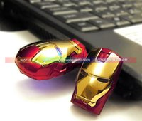 Wholesale Hot GB GB GB GB IRON MAN USB FLASH Memory DRIVE SERIES STORAGE IRON MAN MEMORY STICK DATA LED