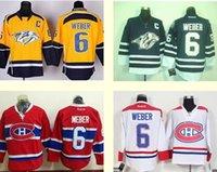 Cheap 2016 New Wholesale Hockey Predators #6 Shea Weber yellow Black White Red jerseys, high quality Accept Mixed orders Cheap shirt Drop Shipping