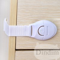 Wholesale 2016Safety Plastic Children Protection Lock Cabinet Door Drawers Refrigerator Toilet Blockers Kids Baby Care Safety Locks Straps