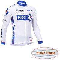 al por mayor jerseys largo fdj-FDJ 2017 Jersey de ciclo manga larga de manga larga termal camisa de ciclismo MTB ciclismo jersey de ropa de bicicleta tamaño XS-4XL maillot ciclismo
