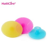 Wholesale Facial Exfoliating Brush Infant Baby Soft Silicone Wash Face Cleaning Pad Skin SPA Scrub Cleanser Tool Cleaning Pad Wash Face