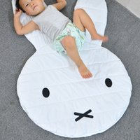 Wholesale Baby Rugs Cartoon Rabbit Playmats for Girls Boys Fashion Cotton Carpet White Children s Room Decoration Toys New