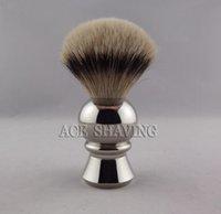 badger hair knot - Stainless EXTRA HEAVY Handle Knot Size mm Silvertip Badger Hair Shaving Brush