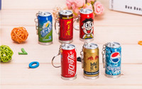 Wholesale Novelty Stationery Keychain Plastic Extendable Drink Blue Ink Ball Point Pens Stationery School Office Supplies Kawaii Korean Stationery