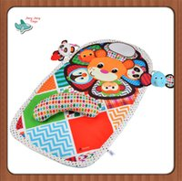 baby activity mats - 0m cm Baby Activity Mat Crawling Mat Play Mat Pad Padded Bolster Large Mirror Teether Animals Lion Panda Elephant Gift