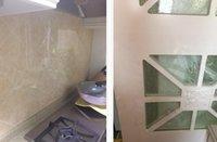 al por mayor pegatinas de pared japón-Sucker tipo aceite de la cocina prueba de calor resistente a la grasa Pegar pegatinas de papel pintado pegados a la pared azulejos para la separación de aceite placa de importación de Japón