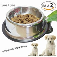 automatic pet feeder stainless steel - JasGood Stainless Steel Dog Bowl For Samll Medium Large Pets set of Dog Feeder and Water Bowls Pet Supplies