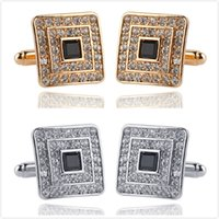 Wholesale Men s Cufflinks Fashion Jewelry Cloth Metal Buckle for Men Shirts Square Cuff Links Style High Quality Cuff Links Hot Selling