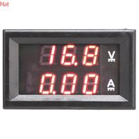 Купить Приборная панель вольтметр-Мини цифровой вольтметр амперметр DC 100V 10A Панель Ампер Вольт Ток метр тестер двойной красный светодиодный дисплей монитор тока TK1381