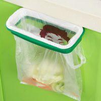 Wholesale Creative Hanging Kitchen Cupboard Cabinet Tailgate Stand Storage Garbage Bag Holder Hanging Bags Bag Clip Trash Rack WA1607