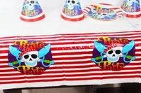 Wholesale Birthday Party Decoration Kids Supplies Favors Pirate Theme Plastic Table Cloth Size cm X cm