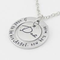 angels stamps - new Father s Day Jewelry quot I used to be his Angel Necklace quot necklace In Memory Of Dad Necklace Hand Stamped Memorial Jewelry