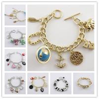 beaded leather cuff - 2017 New Fashion Jewelry Cheap Brand Tennis Charm Bracelets Beaded Strands Cuff Identification Jelly Glow Link Chain Wedding Bracelets Mix