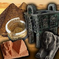 ancient egypt pyramids - Archaeological creativity DIY toy children mining game mini Egypt Pyramid Rome Colosseum Chinese Ancient bronze tripod Sphinx