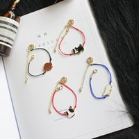 bear claw bracelet - Cats dogs bears Bracelets for women girls Multi shapes animals charm Bracelets Fashion color ropes chains bracelets Jewelry for gifts