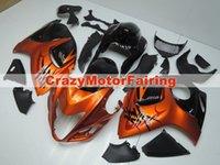 Prezzi Kit e bike-Nuova moto ABS iniezione carenatura Fit Kit per SUZUKI GSXR1300 Hayabusa 08-14 2008 2009 2010 2011 2012 2013 2014 carrozzeria set nero e arancio
