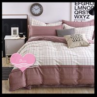 Wholesale 4 Piece Bedding Sets Classical Sheet Soft Cotton Printed Korean Style High Quality Wrinkle and Fade Resistant