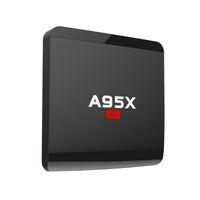 al por mayor inteligente de cuatro núcleos-A95X R1 Rockchip RK3229 Quad-core Android 6.0 1GB 8GB Smart TV Caja HDMI2.0 4Kx2K HD 2.4G Wifi Streaming Reproductores de Medios