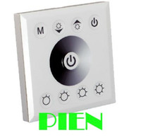 Wholesale DC V V A Touch Panel LED controller dimmer Switch for Single Color LED Lights Strip Lights White