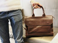 Wholesale Men s single han edition handbags bags inclined shoulder bag bag business crazy horse leather briefcase a undertakes to restore ancient ways
