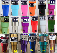 Wholesale 30 oz Yeti Rambler Tumbler Custom Color Cup Purple Pink Blue Light Blue Orange Light Green Red Black Stainless Steel Mug Colors