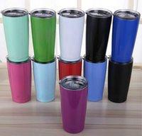 Wholesale Colorful Beer Mug oz Cup Stainless Steel oz Rambler Coolers Rambler Tumbler Double Walled Travel Mug cup colste