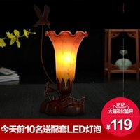 Wholesale hathy difany creative Lily blown glass lamp European garden decoration Nightlight