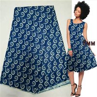 african bedding - blue cotton wax real super java african printed fabric for bed sheet high quality yard lotAN
