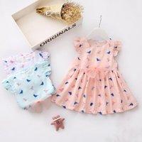 al por mayor hermosas faldas de algodón de verano-Bebé de algodón de manga corta vestido de verano Bebé roto Hermosa falda de princesa 0083