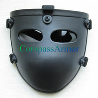 Wholesale Ballistic face mask Half Threat Level NIJ IIIA A Bulletproof Mask kevlar face mask