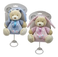 Wholesale UK Brand Snuggle Baby Nursery Time Lovely Cute Fashion Soft Polyester Pulling String Musical Bear With Rattle Toys Boys and Girls