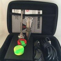 Portable Electric Dab clavo de control de la temperatura de la caja de 16 mm 20mm Coil Heater Titanium Quartz Híbrido Cera Vaporizador Seco hierba cera pluma
