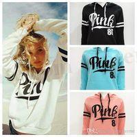 Wholesale Women Pink Letter Hoodie VS Pink Pullover Tops VS Brand Shirt Coat Sweatshirt Long Sleeve Hoodies Casual Sweater Fashion Hooded Coat D173