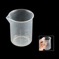 beaker cup - Affordable Clear White Plastic mL Measuring Cup Beaker for Flour Sugar Liquid